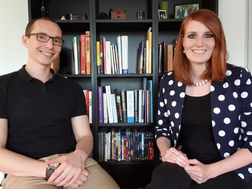 Finanzmakler Maximilian Fuchs und Jenn van Distel von Human Reboot